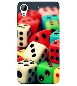 Chiraiyaa Designer Printed Premium Back Cover Case for HTC Desire 626 (dice designs colorful) (Multicolor)