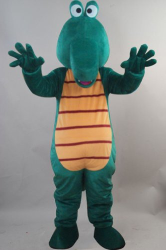 Green Dragon Crocodile Alligator Mascot Costume Cartoon Character