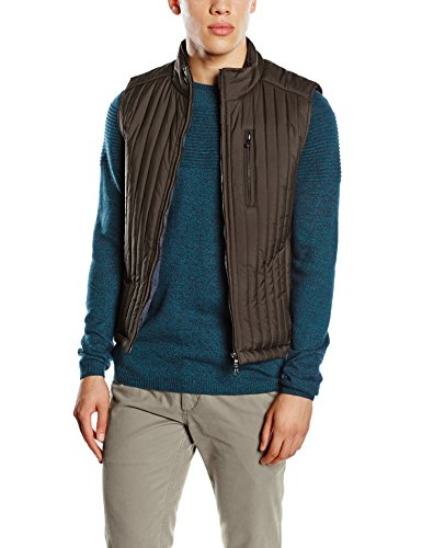 hackett-london-channel-quilt-gilet-gilet-homme-brown-brown-taille-m
