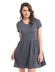 Prym Women's Cotton Pleated Dress (1011531501_Blue Mix_X-Large)
