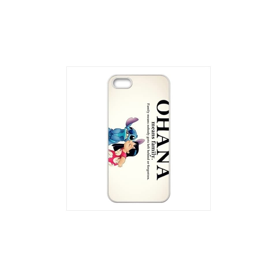 FashionCaseOutlet Ohana Means Family Lilo and Stitch Accessories TPU Cases Accessories for Apple Iphone 5