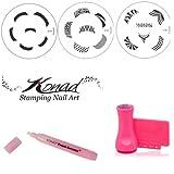 Konad Nail Art Nail Stamping Kit including 1x Nail Corrector Pen