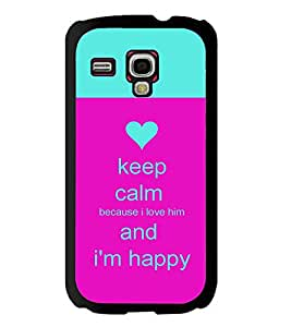 Printvisa 2D Printed Quotes Designer back case cover for Samsung S3 I8190 Mini - D4291