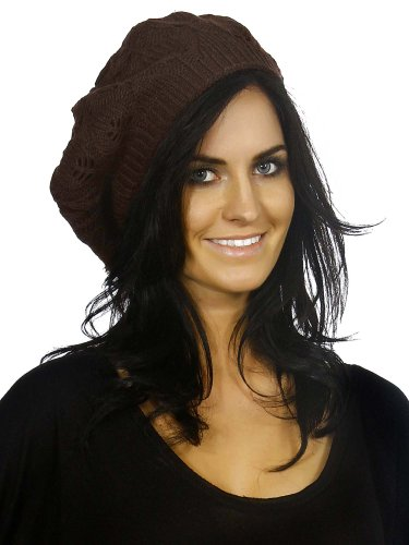 Simplicity Cable Knit Winter Ski Beret Tam Hat front-815864
