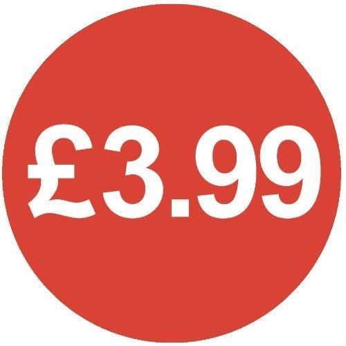 Audioprint Lot Petit 13mm £ 3,99Prix Stickers-10000PACK