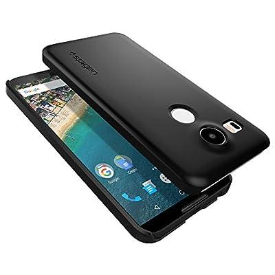 【Spigen】 Nexus 5X ケース シン ・フィット [ パーフェクト フィット ] Google LG Nexus5X / ネクサス 5X 用 (ブラック SGP11756)