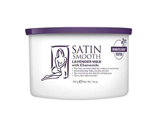 SATIN SMOOTH Lavender Wax with Chamomile, 14 oz (Smooth Hair Wax compare prices)