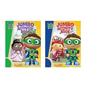 Bendon Jumbo Coloring & Activity Super Why Assorted Book