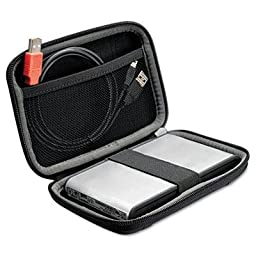 Case Logic - 2 Pack - Compact Portable Hard Drive Case Black \