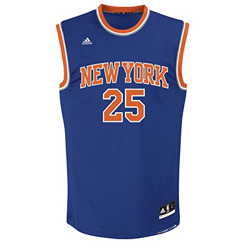 NBA New York Knicks Derrick Rose #25 Men's Road Replica Jersey, Small, Blue (Nba Jersey New York Knicks compare prices)