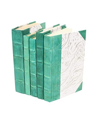 Set of 5 Parchment Collection Books, Teal