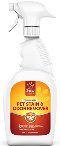 Zesty Paws Pet Stain & Odor Remover, Carpet Spot Cleaner & Odor Eliminator for Dogs & Cats, Works On Carpet, Hardwood Floors, Fabric, Tile & More, Cleans Pet Urine, Feces, Vomit & Food, 32 oz Spray (Enzymatic Cleaner For Wood Floors compare prices)