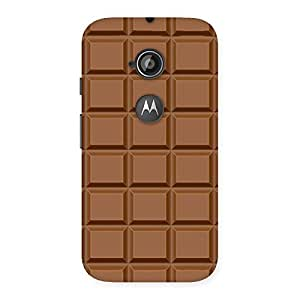 Gorgeous Classic Chocolate Back Case Cover for Moto E 2nd Gen