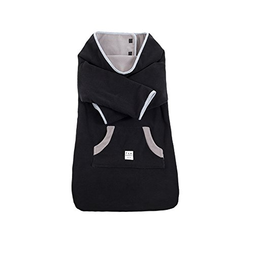 7AM Enfant Easy Cover Bunting Bag Fleece, Black, Small