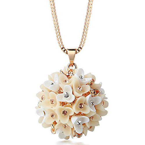 the-starry-night-champaign-gold-color-2992-chain-diamond-ball-flower-necklace-for-fashion-womens-gir