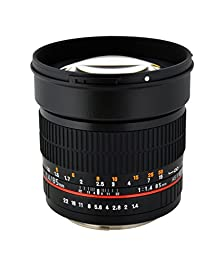 Rokinon 85M-C 85mm F1.4 Aspherical Fixed Lens for Canon (Black)
