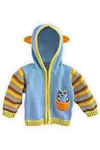 Joobles Organic Baby Cardigan Sweater - Racky the Raccoon