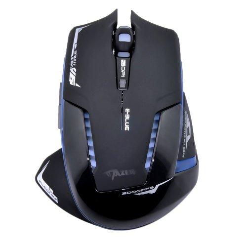 E-3lue E-sport Cobra II Mazer - Mouse LED ottico wireless per gaming 2500dpi USB