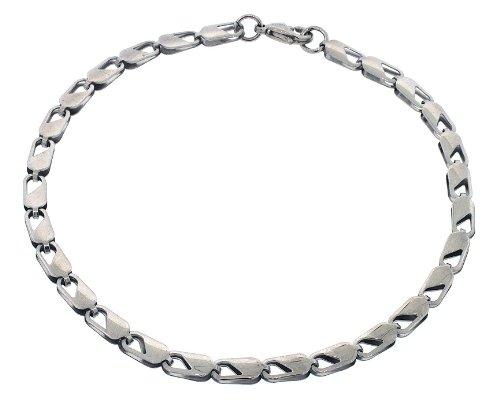 Men's Designer Polished Stainless Steel Link Chain Bracelet 10