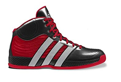 Adidas Mens Commander TD 4 Basketball Shoes Black/White/Red G99899 Size 8
