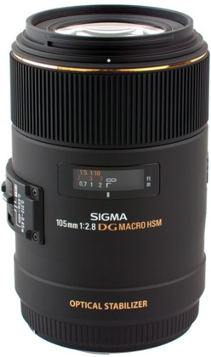 Sigma 105mm f/2.8 EX DG OS HSM Macro Lens for Nikon DSLR Camera