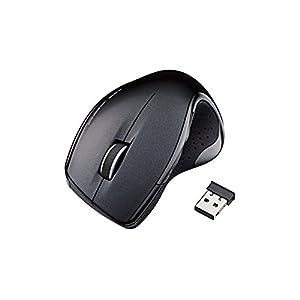 ELECOM ワイヤレスレーザーマウス  5ボタン 2.4GHz エルゴノミクスデザイン ブラック M-LS11DLBK