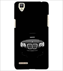 PrintDhaba Car Front D-2367 Back Case Cover for OPPO F1 (Multi-Coloured)