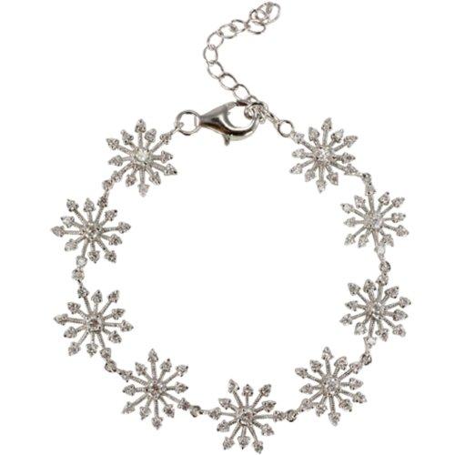Sparkling Diamond Cubic Zirconia Snowflake Link