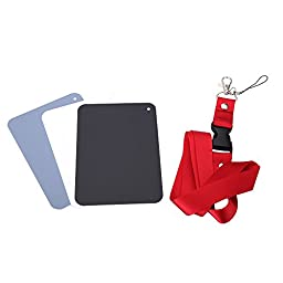 Andoer 3 in 1 13*9cm Pocket-Size Digital White Black Grey Balance Cards 18% Gray Card with Neck Strap for Digital Photography