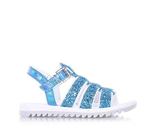 CIAO BIMBI - Sandalo celeste, pelle e glitter, curato in ogni dettaglio, stile, qualità, made in italy, Bambina-31