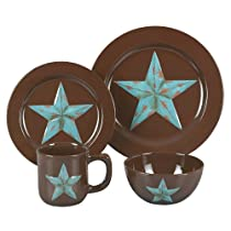 HiEnd Accents Decorative Star Dinnerware Set, 16-Piece