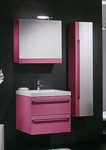 Mobile Arredo Bagno cm 60 sospeso moderno specchio contenitore disponibile in 23 colori (anche bianco) Mobili