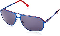 Lacoste Men's L139S Aviator Sunglasses, Blue, 60 mm