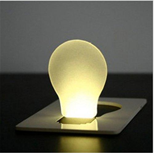 HITOP NEUHEIT Tragbares Pocket Mini LED Visitenkarten Karte Card Taschen Licht Lampe Beleuchtung Karte Portemonnaie