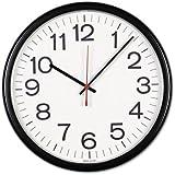 Universal 11381 Indoor/Outdoor Clock, 13-1/2In, Black
