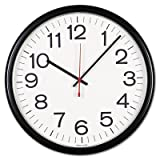 Universal Indoor/Outdoor Clock, 13 1/2-Inch, Black (11381)