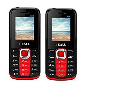 I Kall K99 set of 2 Dual Sim Mobiles (Red & Red)