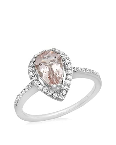 Fashion Strada Morganite & Diamond 14K White Gold Ring, Size 6.5