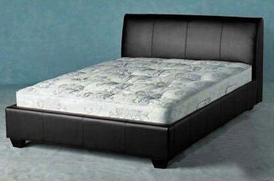 vienna double faux leather bed