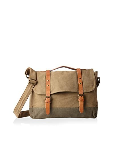 J.Campbell Los Angeles Mens Messenger Bag, Khaki/Olive