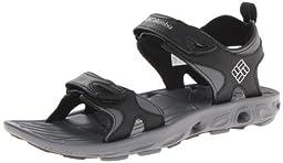 Columbia Men\'s Techsun Sandal,Black/Columbia Grey,16 D US
