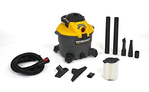 WORKSHOP Wet/Dry Vacs WS1200DE Heavy Duty Wet Dry Shop Vacuum with Detachable Blower, 12-Gallon, 5.0 Peak HP