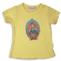 Cool Island - Girls Short Sleeved Tee, Yellow 9634-2T