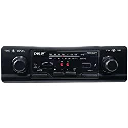 See PYLE PLR14MPF Single-DIN In-Dash Shaft-Style Mechless Receiver (PLR14MPF) Details
