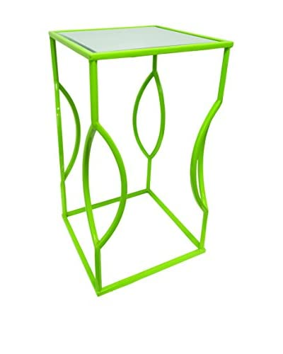 Couture Venice Table, High Gloss Green/Clear