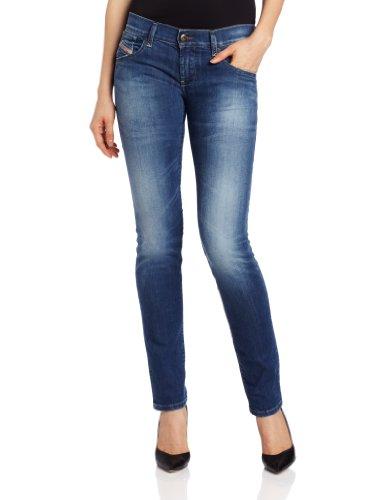 Diesel Women's Getlegg Slim Skinny Leg Jean 0601I in Denim by Diesel