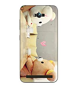 Make My Print Teddy Bear Printed Multicolor Hard Back Cover For Asus Zephone Max