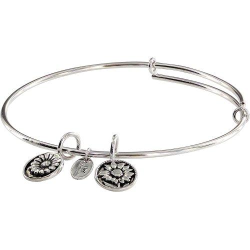 Chrysalis Adjustable, Expandable, Bracelet, Bangle, Believe Flower Charm Tags