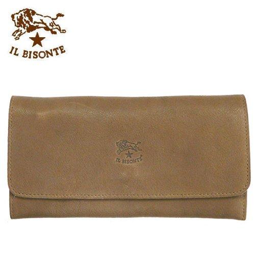 IL BISONTE【イルビゾンテ】 長財布 C775 (並行輸入品) (618N:グレージュ(金具シルバー))