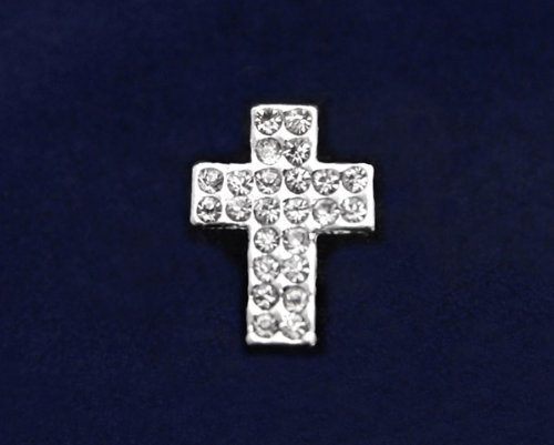 Religious Pin - Crystal Cross Tac Pin (27 Pins)